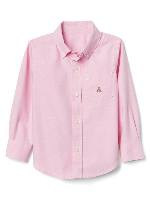 Düğmeli oxford gömlek