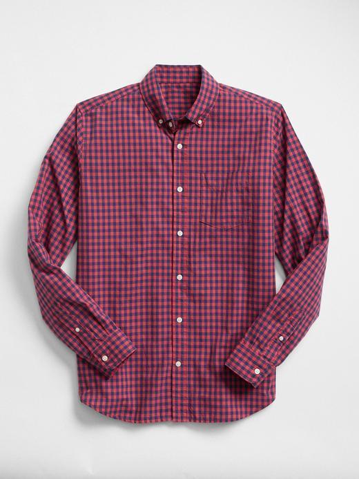 açık kırmızı Standart Fit Poplin Gömlek