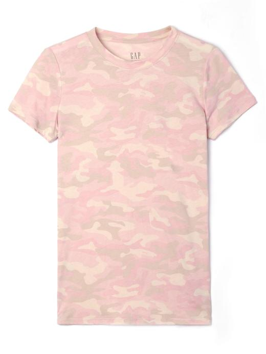Kamuflaj desenli kısa kollu -shirt