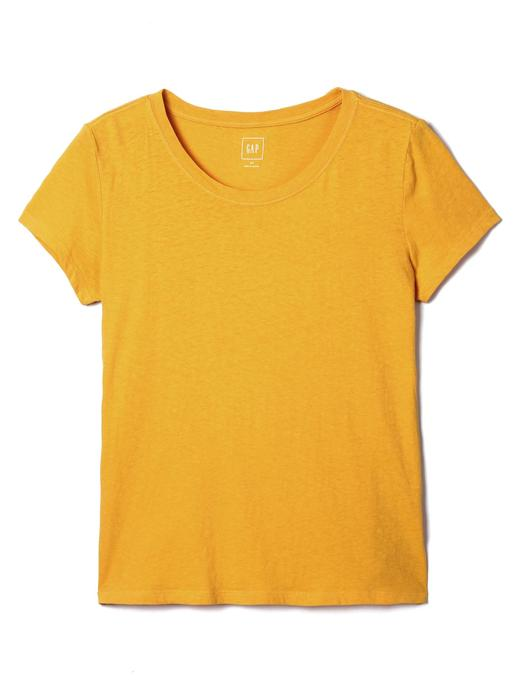 Kısa kollu sıfır yaka pamuklu kısa t-shirt