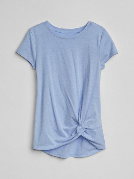 Önden bağlamalı kısa kollu t-shirt