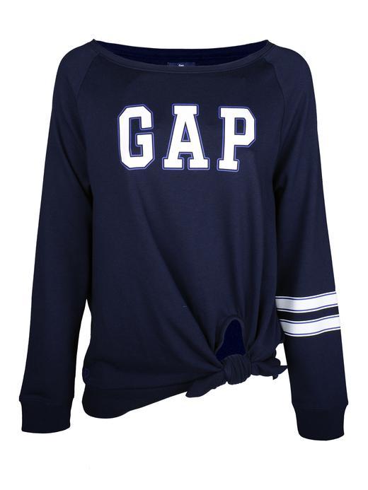 Logolu önden bağlamalı sweatshirt