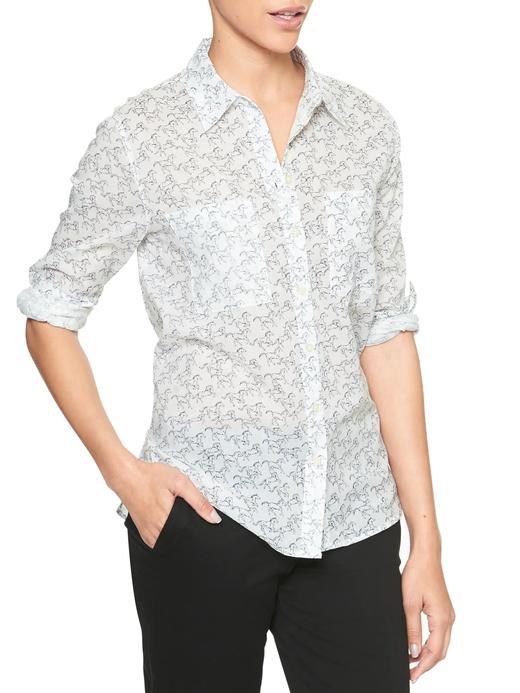 Uzun kollu çiçek desenli gömlek