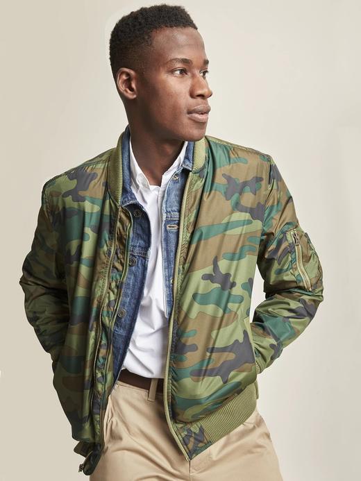 yeşil Bomber ceket