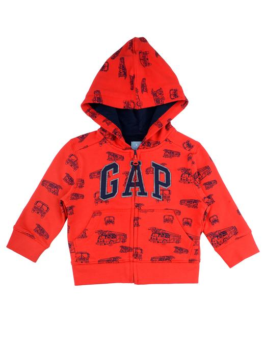 Logolu desenli kapüşonlu sweatshirt