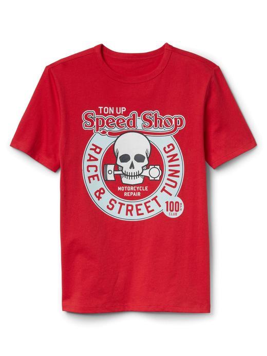 kırmızı Kısa kollu baskılı t-shirt
