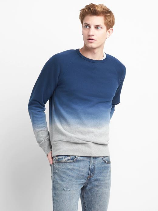 SIfır yaka fransız havlu kumaşı sweatshirt