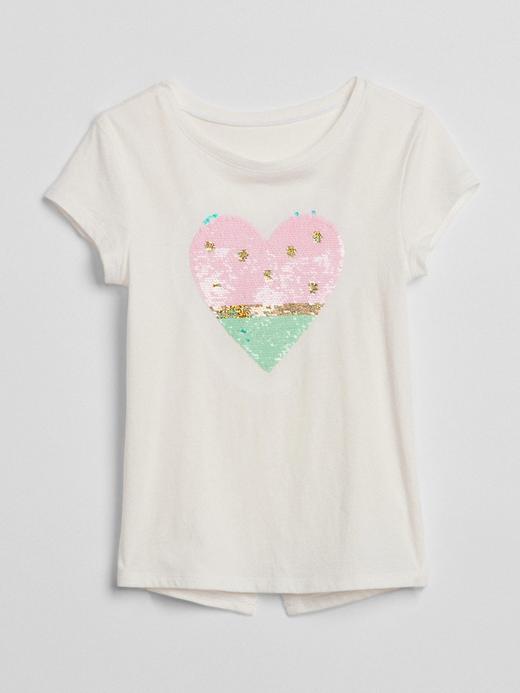 Değişen Pullu Kısa Kollu T-Shirt