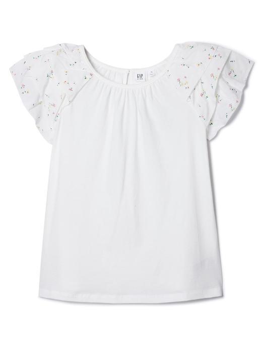 Kısa kollu fırfırlı t-shirt