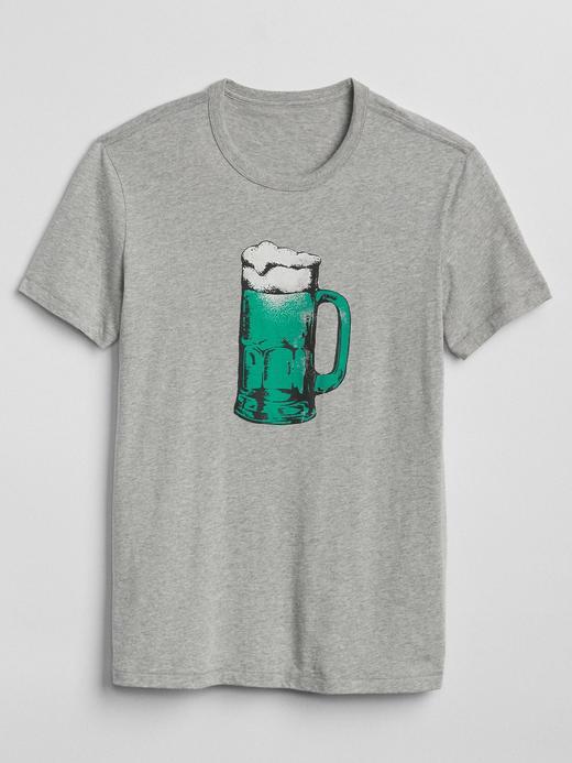 Sıfır yaka grafik desenli kısa kollu t-shirt