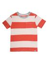 Cepli çizgili kısa kollu t-shirt