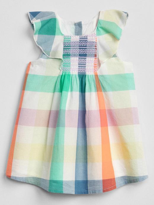 Kısa kollu ekose elbise