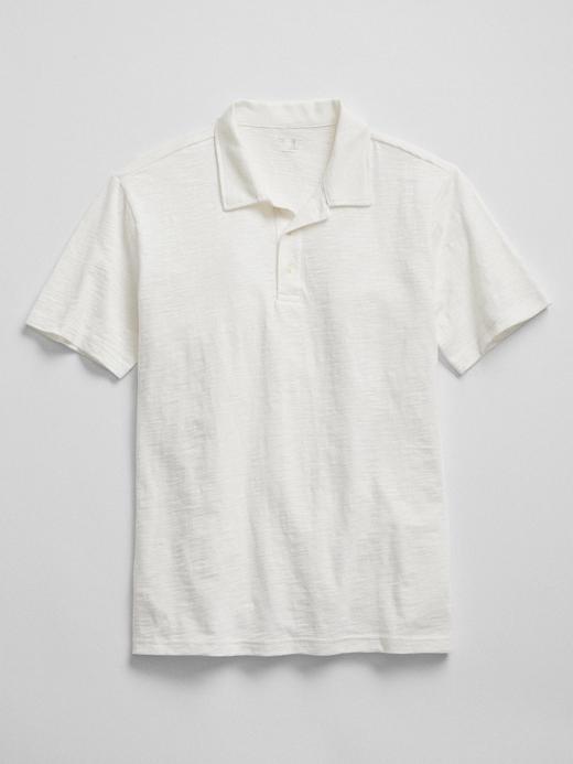kırık beyaz Kısa kollu polo t-shirt