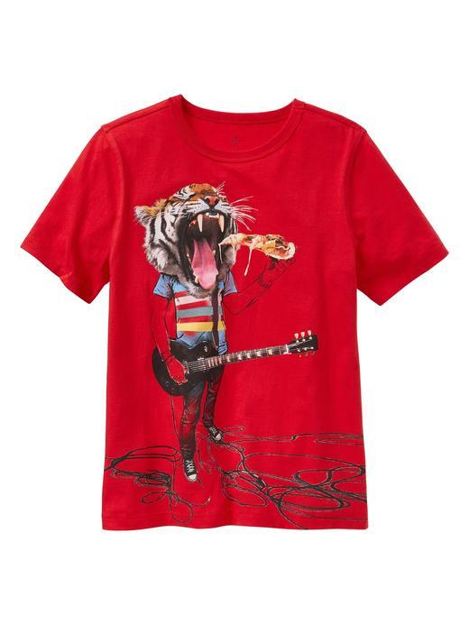 kırmızı Kısa kollu baskılı jarse t-shirt