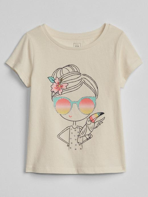 Bebek kız Baskılı kısa kollu t-shirt