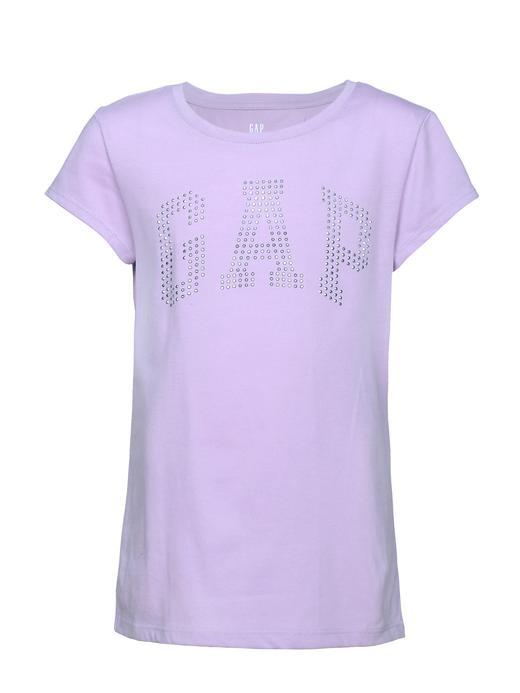 Logolu kısa kollu jarse t-shirt