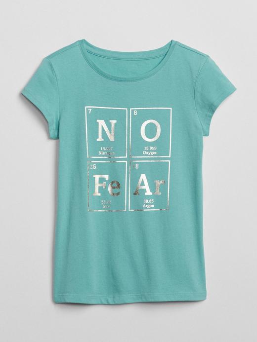 Kız Çocuk Yeşil Kısa kollu baskılı t-shirt