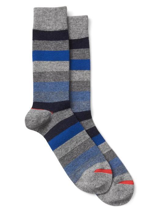 Erkek mavi çizgili Çizgili çorap