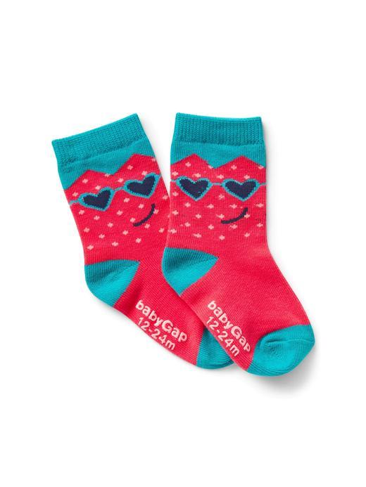 Grafik desenli çorap