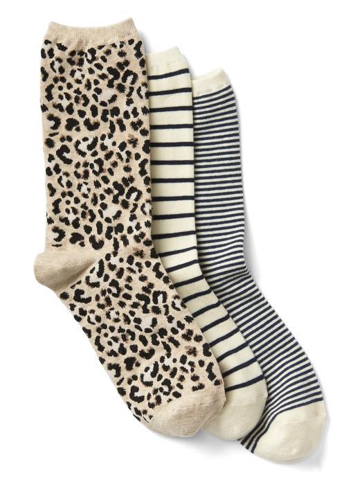 3 Çift desenli çorap