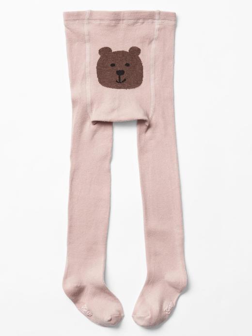 Bebek pembe Ayıcıklı külotlu çorap
