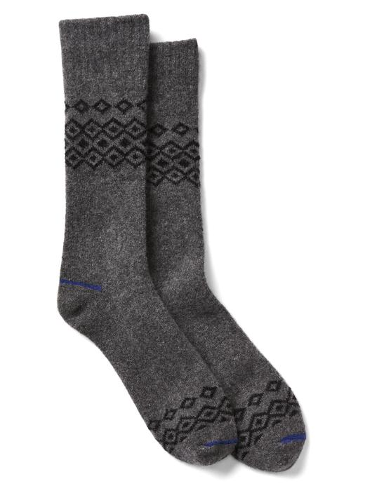 kırçıllı gri Desenli çorap