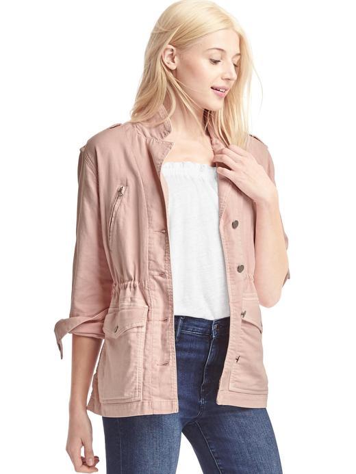 Kadın Açık pembe Utility ceket