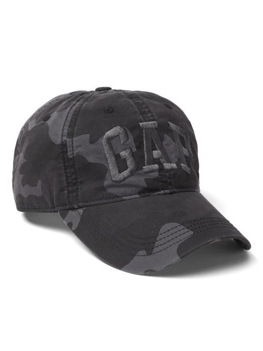 Erkek kamuflaj Gap Logolu kamuflaj desenli şapka