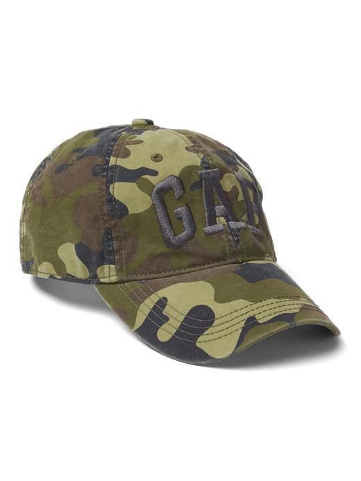 Yeşil Gap Logolu kamuflaj desenli şapka