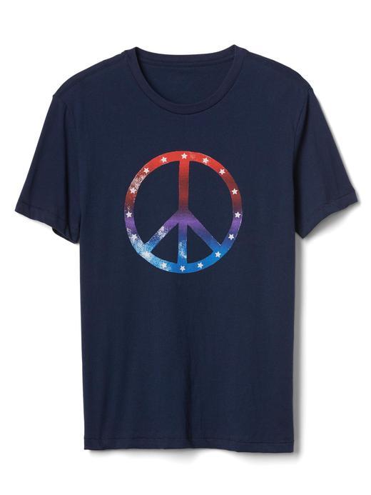 lacivert Grafik desenli t-shirt