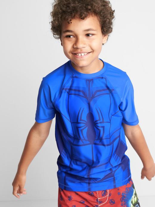Erkek Çocuk mavi GapKids | Marvel© mayo üstü