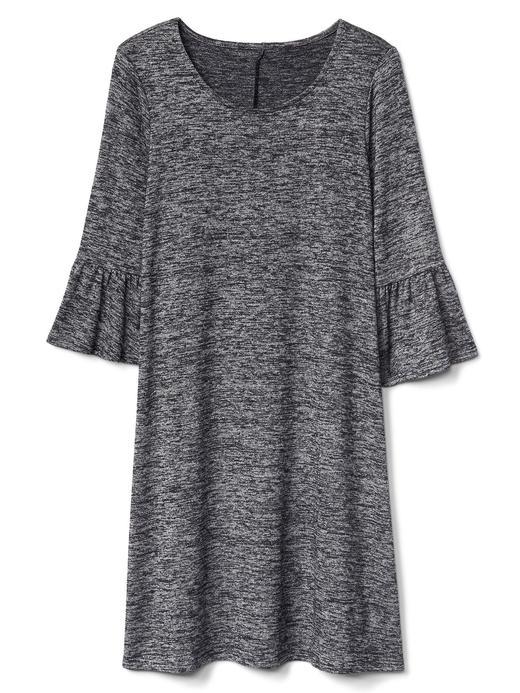 lacivert Softspun volanlı elbise