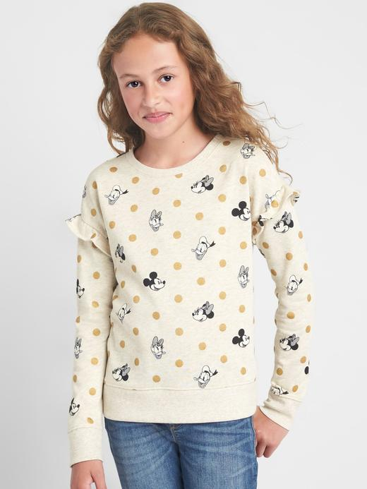 GapKids | Disney Mickey Mouse and Minnie Mouse fırfırlı sweatshirt