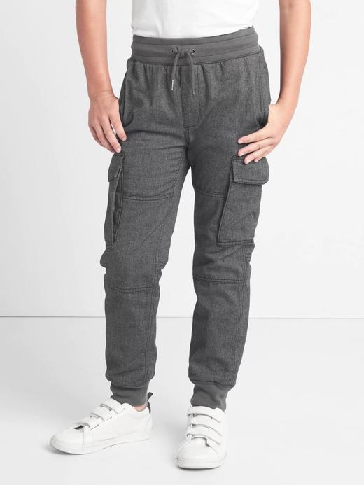 Jarse astarlı kargo pantolon