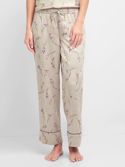 Desenli saten pijama altı