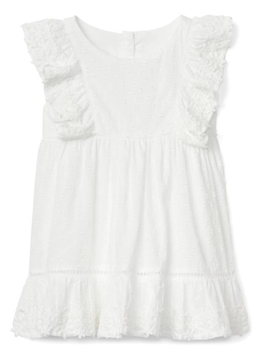 Fırfırlı kısa kollu elbise