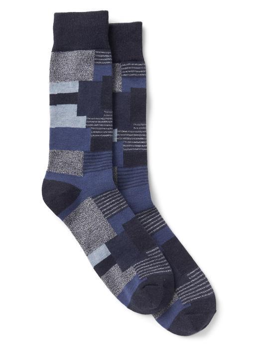 Koyu indigo Desenli çorap