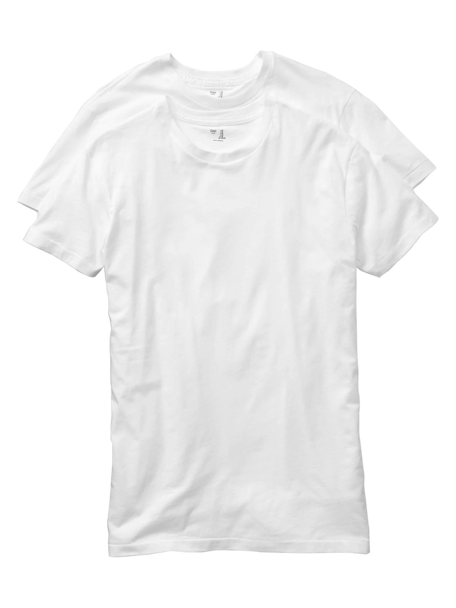 GAP beyaz 2'li sıfır yaka t-shirt