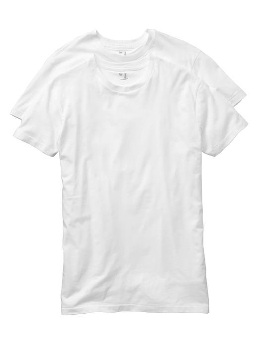 Erkek Beyaz 2'li Yuvarlak Yaka T-Shirt