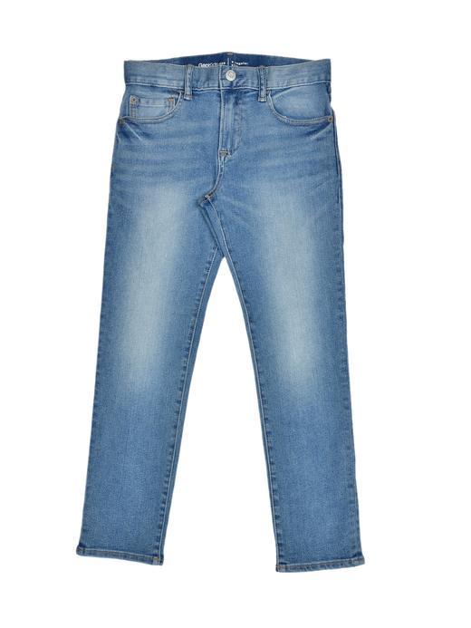 Slim açık mavi yıkamalı jean pantolon