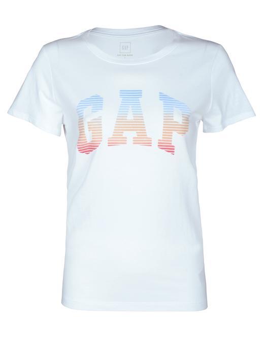 Logolu renkli kısa kollu t-shirt