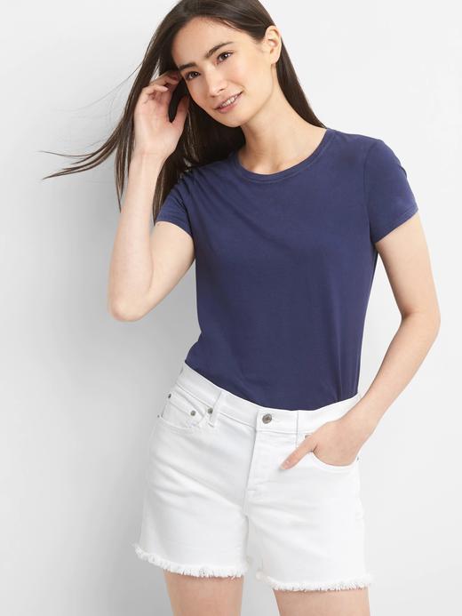 Kadın lacivert Kadın Vintage Kısa Kollu T-Shirt