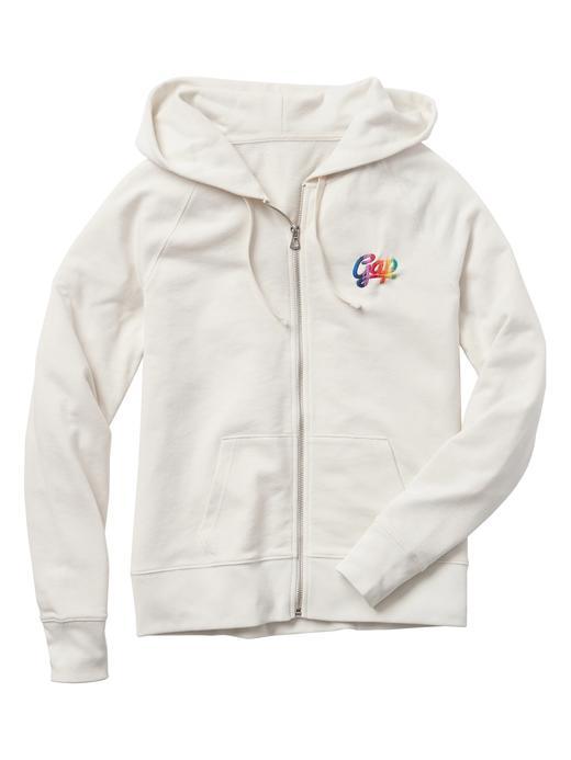 Logolu kapüşonlu fransız havlu kumaşı sweatshirt