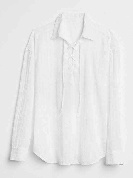 Uzun kollu pamuk gömlek