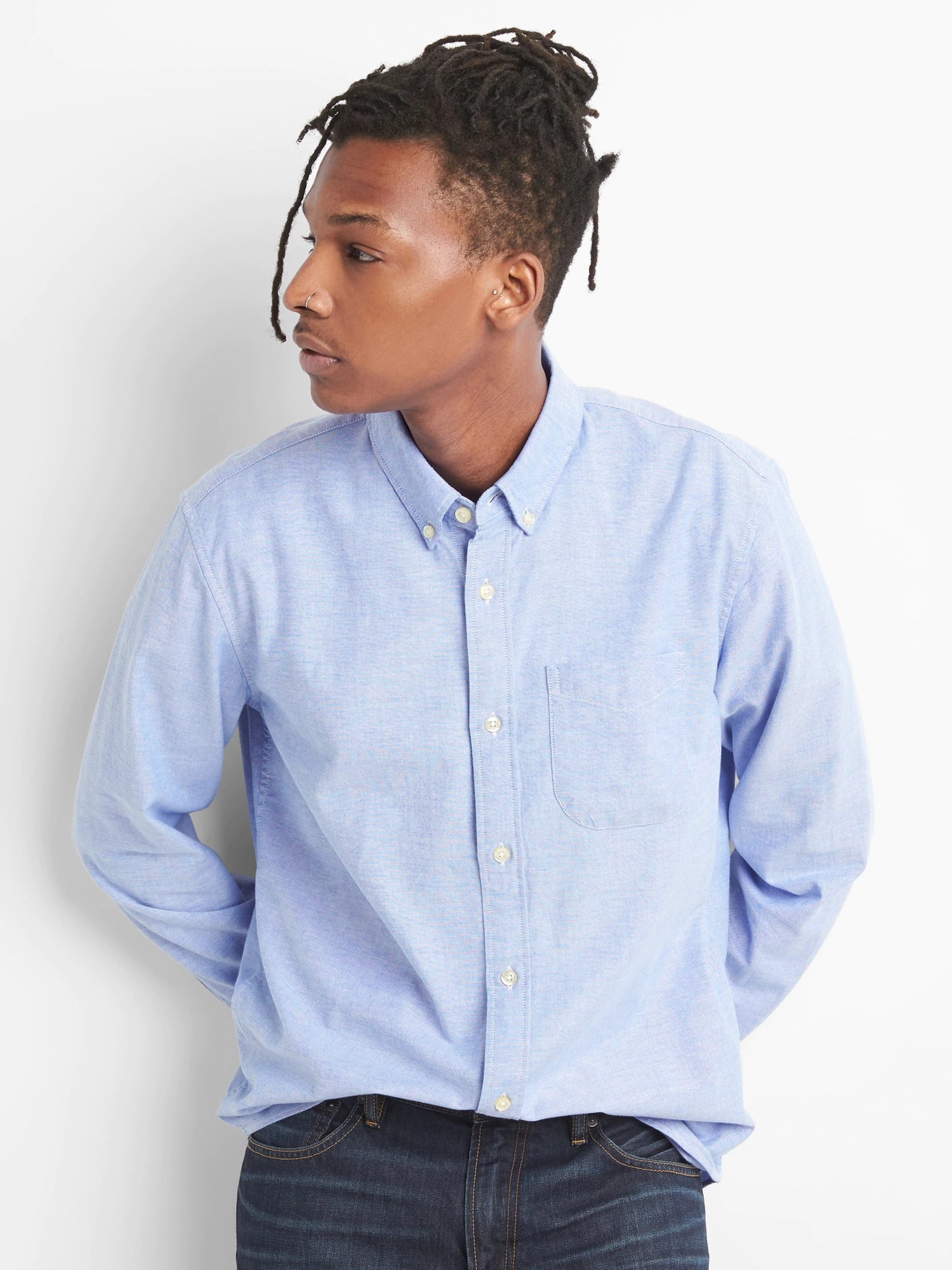 GAP mavi Erkek Oxford Gömlek