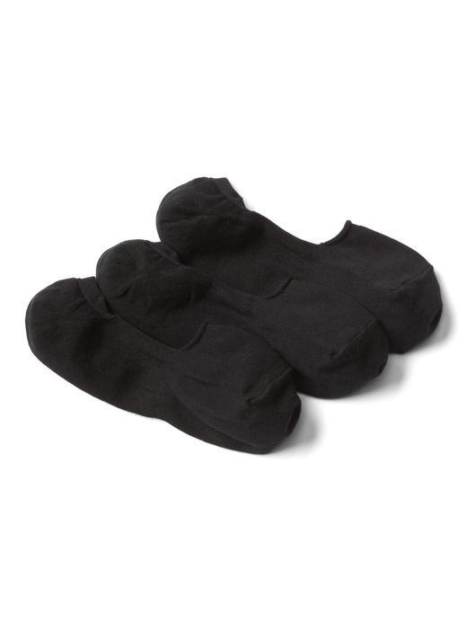 Siyah Basic babet çorabı (3 parça)
