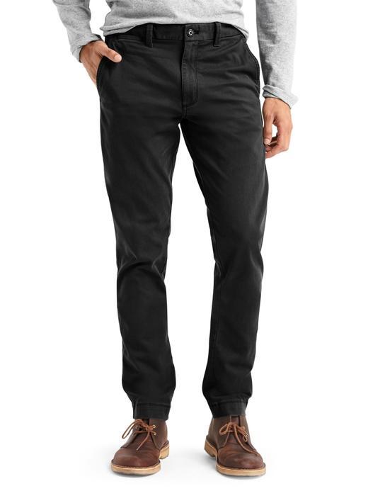 siyah Slim Fit khaki pantolon