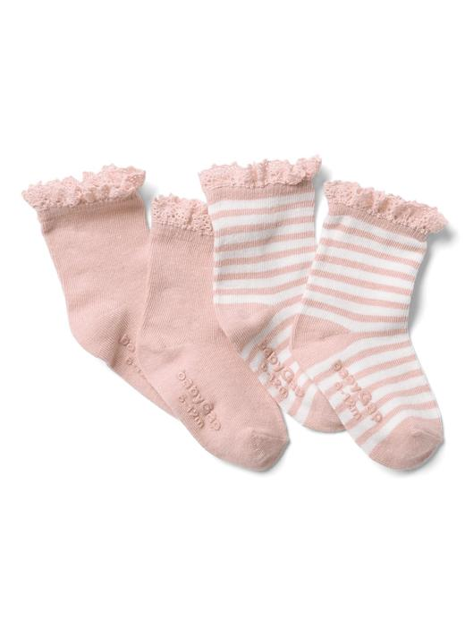 Fistolu çizgili çorap (2 parça)