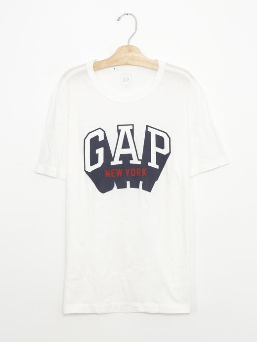 kırık beyaz Logolu kısa kollu t-shirt