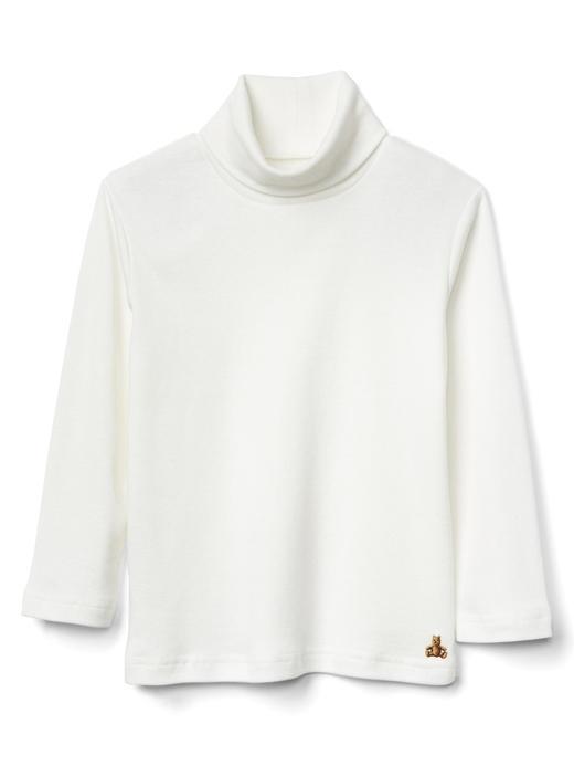 Bebek Beyaz Boğazlı uzun kollu t-shirt
